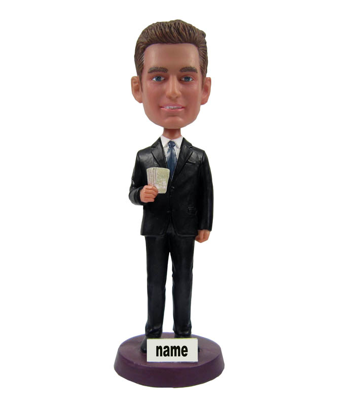 Personalized Bobbleheads Male with Black Suit 2011