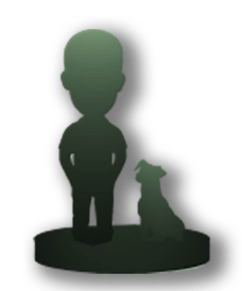 Custom person + pet bobbleheads