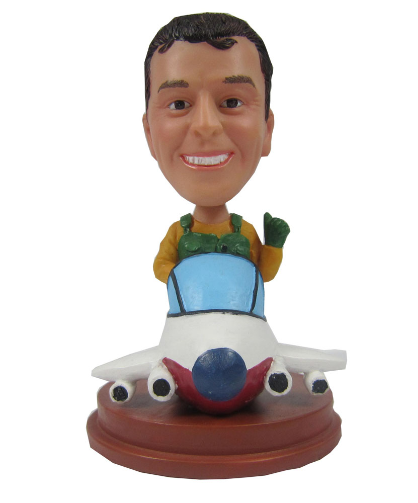 Custom bobbleheads with aeroplane 210