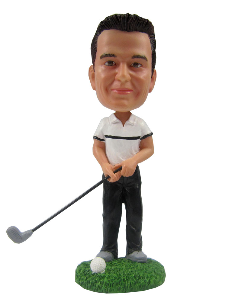 Bobblehead people: Golf Doll Heads for male 2133
