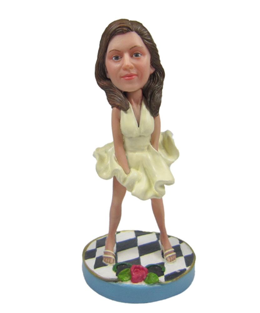 Sexy Fashionable Female Bobblehead Doll 2222