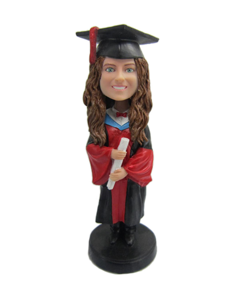 Female Graduation custom bobblehead doll