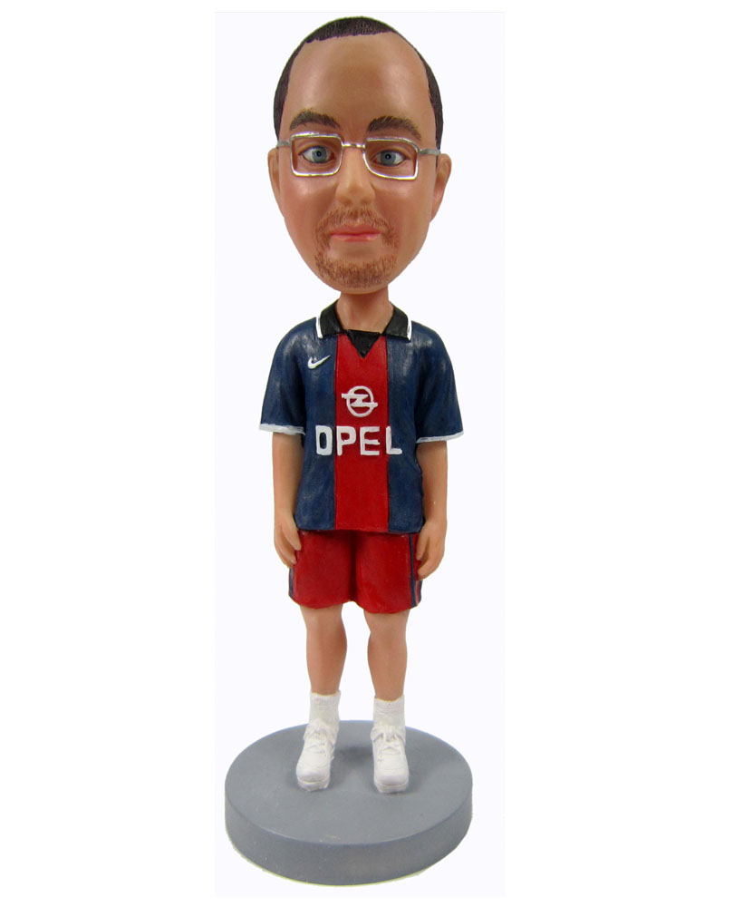 Male football fan bobblehead 2311