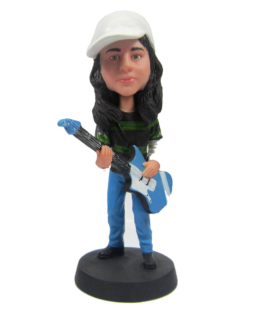 Making Bobbleheads of Female Guitar Player G002-1