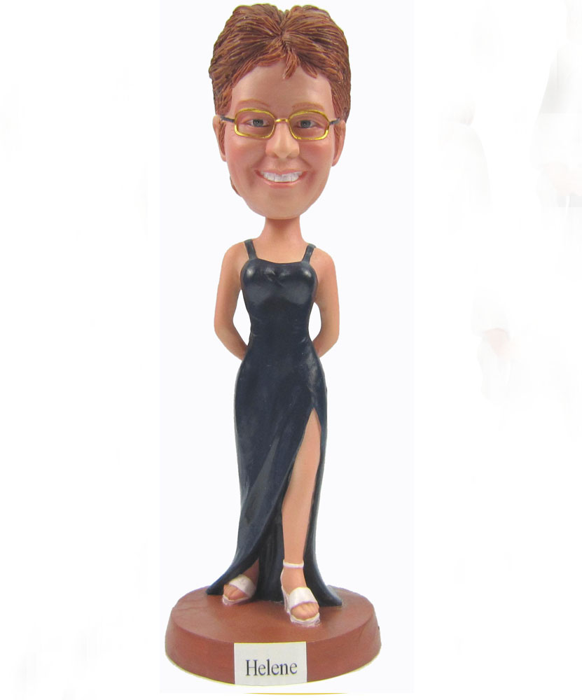 Create Bobble Head with Black Dress G007
