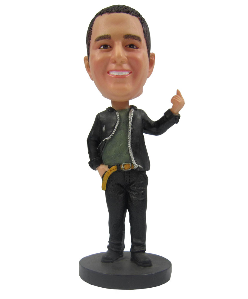 Customized bobble head on handsome male body B235-1
