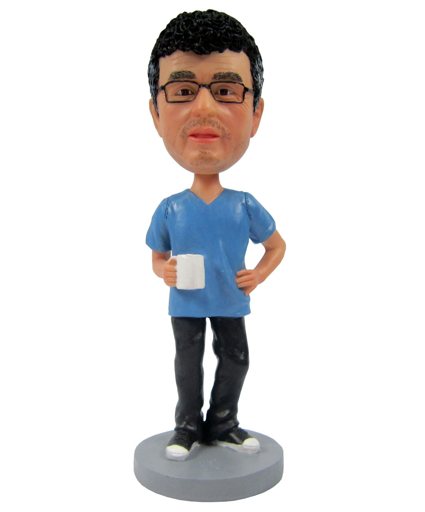 Male with blue top bobblehead dolls B237-1