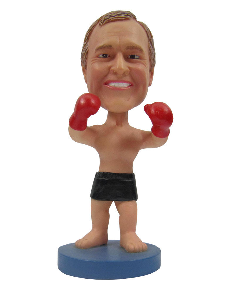 Polymer Clay Dolls Male Boxer In Trunks And Gloves B240-1