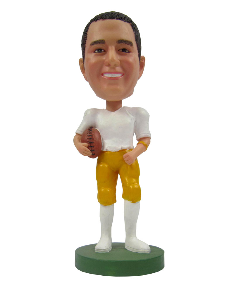 Football Player In Uniform Holding The Ball Bobbleheads