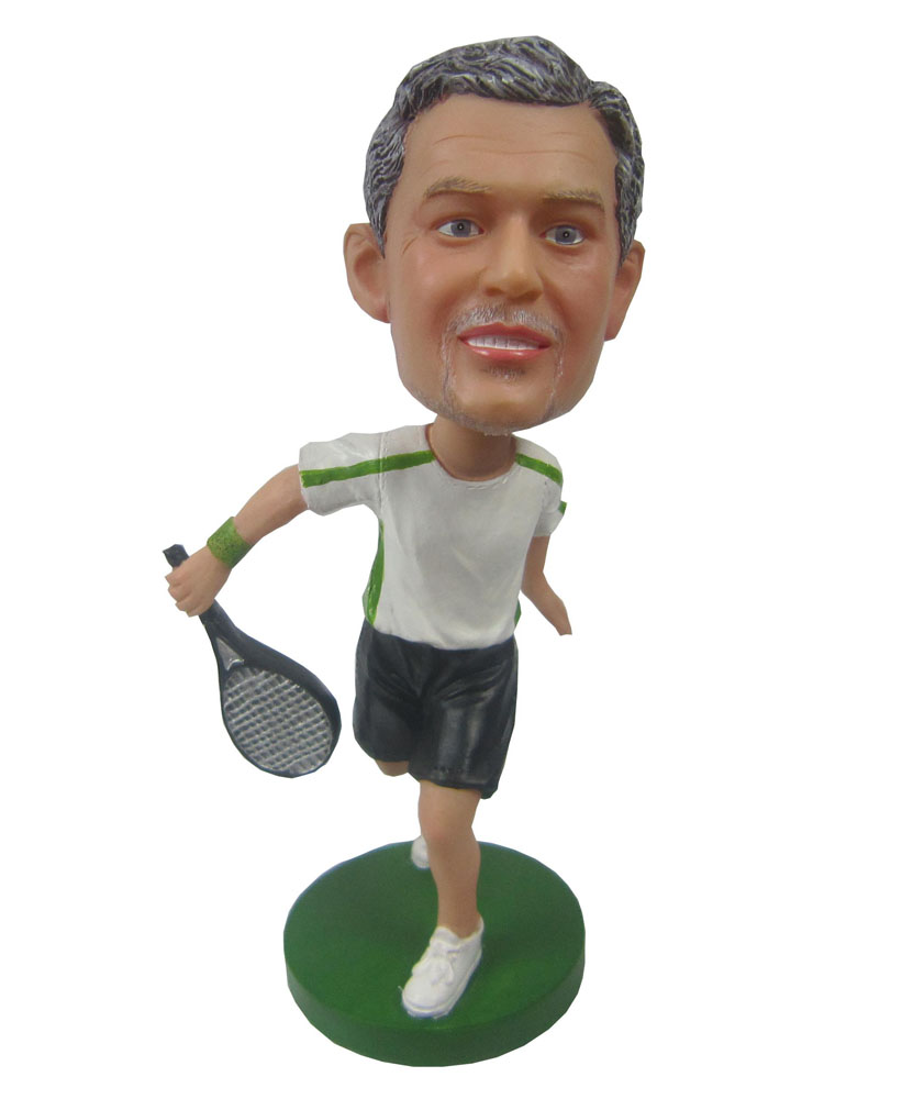 Backhanding Tennis Male Cool Bobble Heads B243