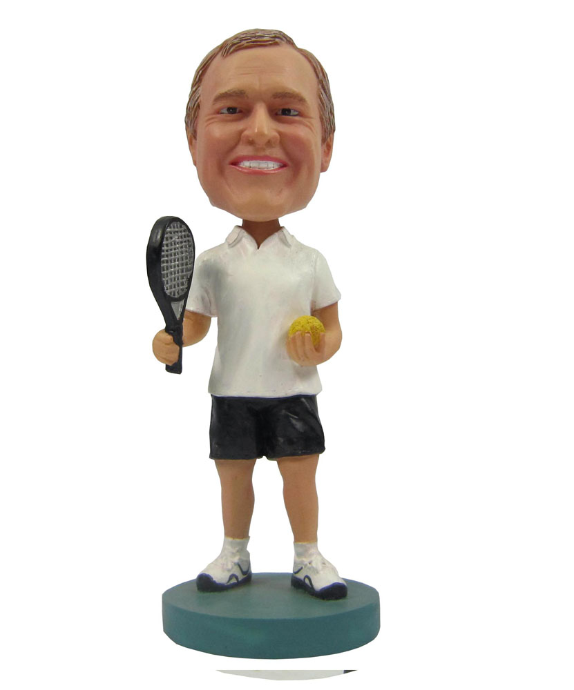 Tennis Player Man Personalized Bobble Head Doll B251-1