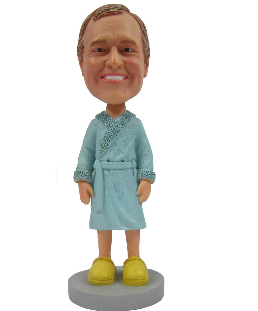 Male in Pajamas Personalized Bobbleheads B253-1
