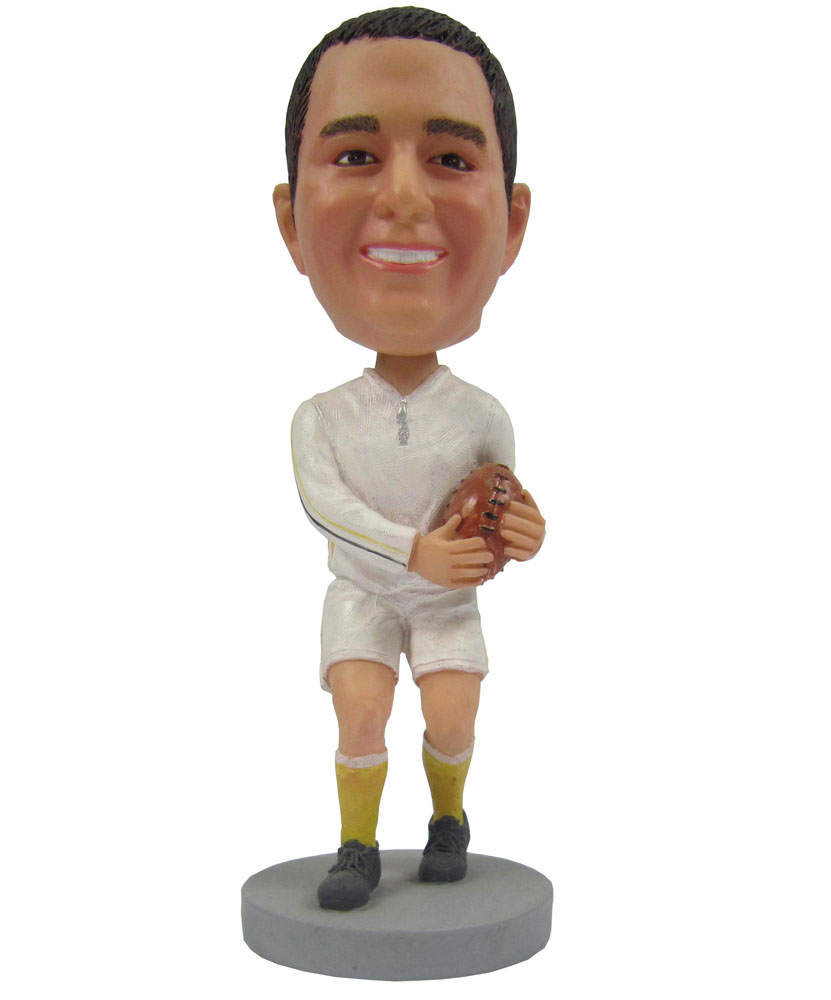 Custom Male Football Cheap Personalized Bobbleheads
