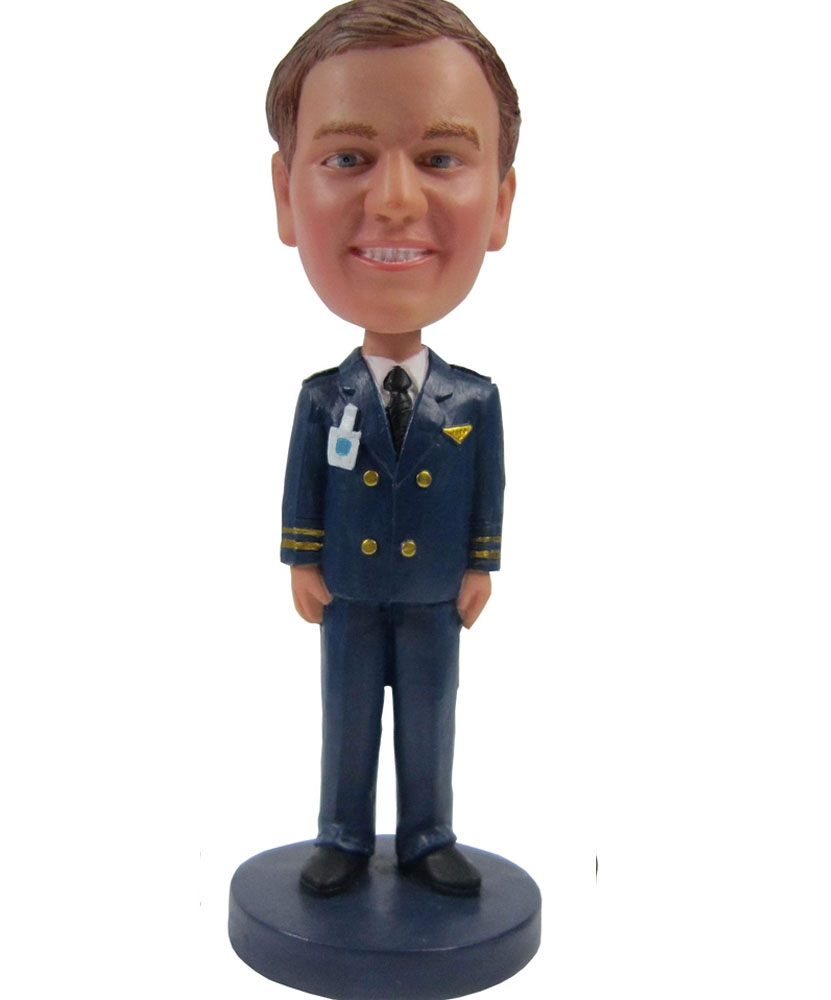 Airline Man Custom bobblehead Doll B256-1