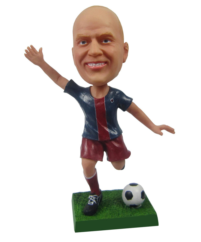 Kicking Soccer Player Personal Bobblehead Doll B261