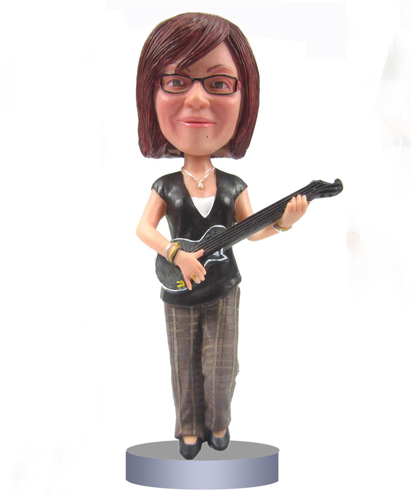 Cheap Bobble Heads of Female Guitar Player G010-1