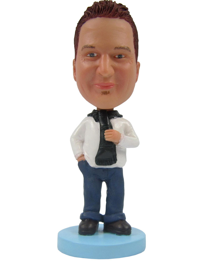 Custom Bobbleheads: Casual Man Hand in Pocket B267-1