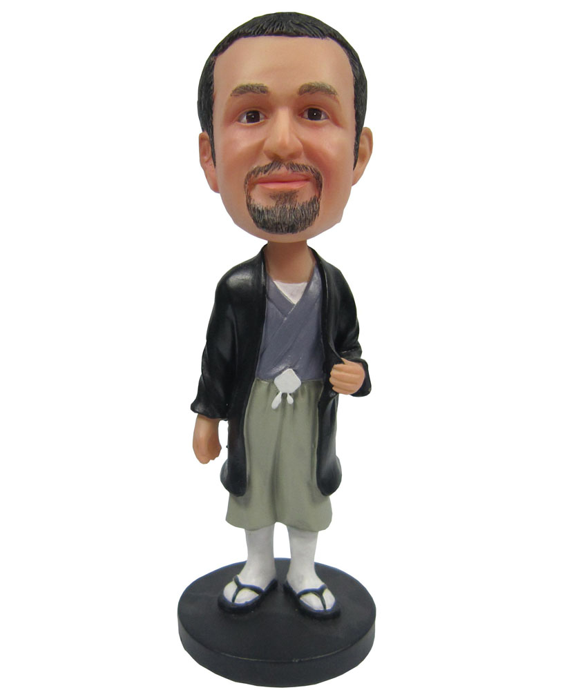 Janpan Male karate Custom bobblehead Doll B268-1