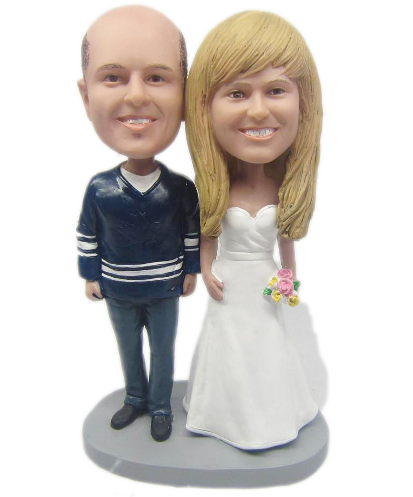 Bobblehead Wedding Cake Topper W001