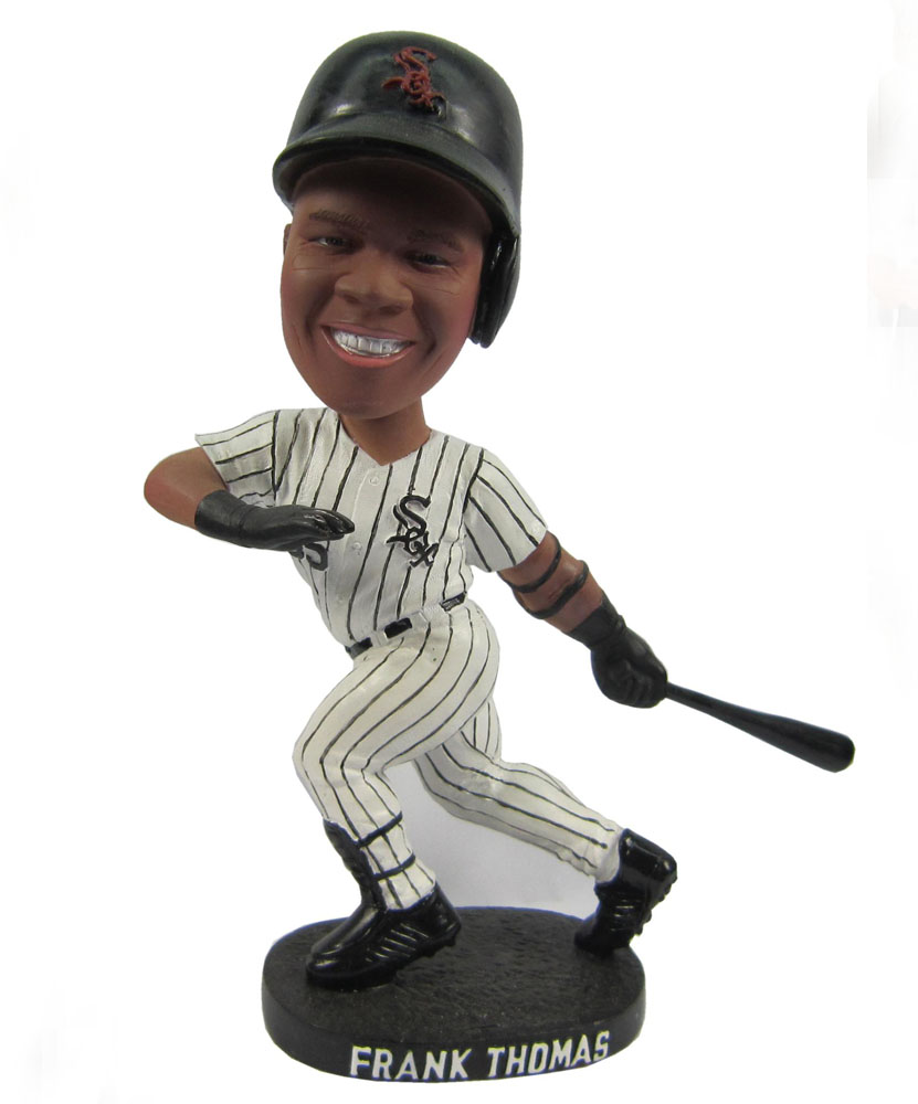 baseball bobbleheads with black and white stripes dress