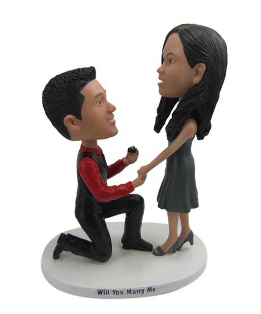 Will You Marry Me Custom Wedding Bobbleheads