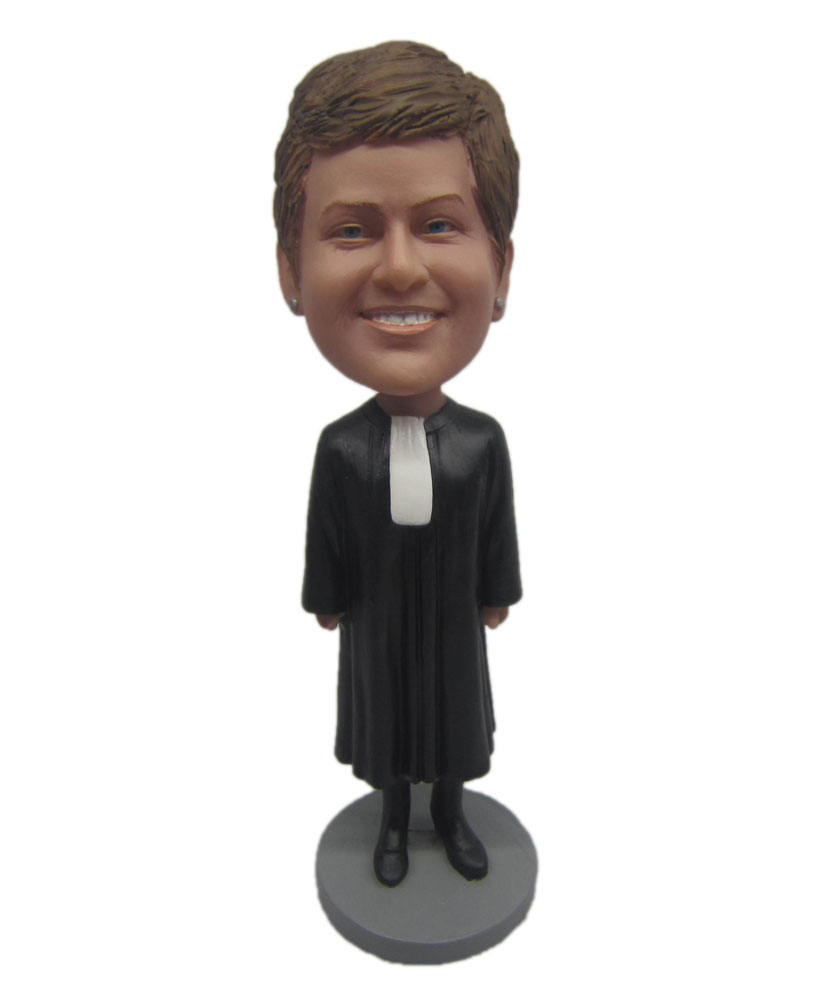 Custom bobbleheads Female in Long Black Dress