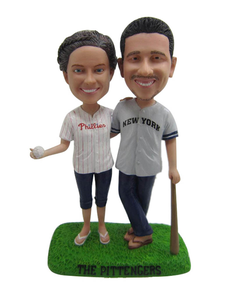 Couple Baseball Suit Bobbleheas D007