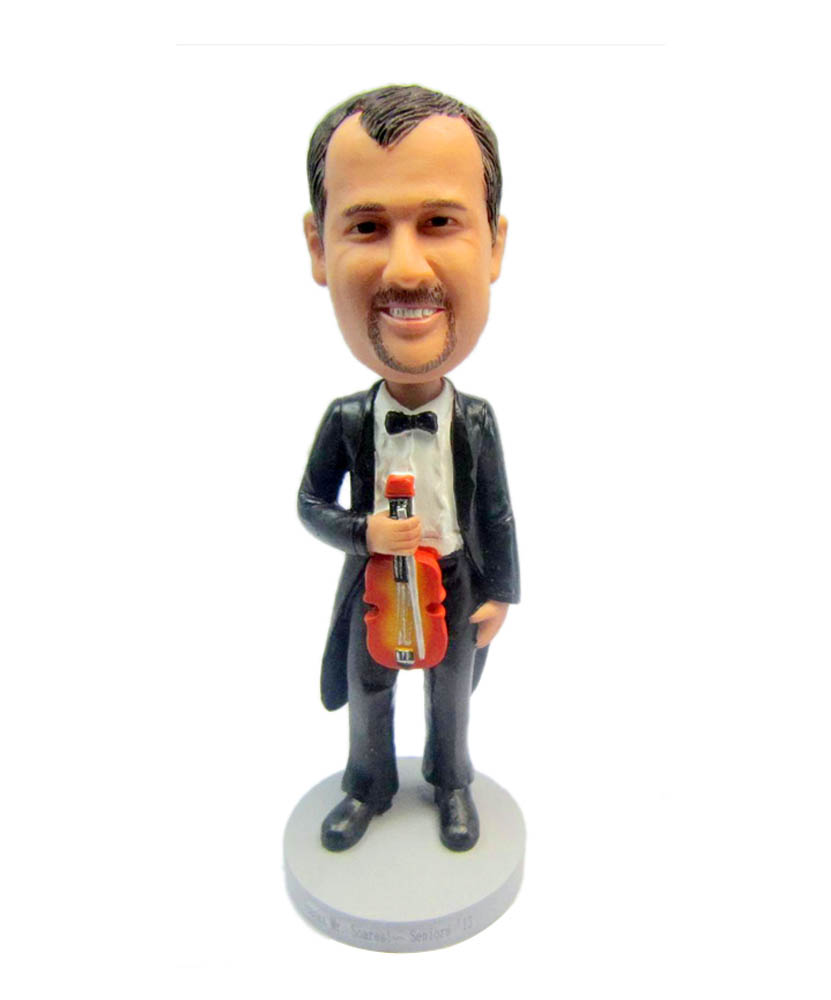 Custom Bobbleheads Cheap Man with Violin DFU-B276-1