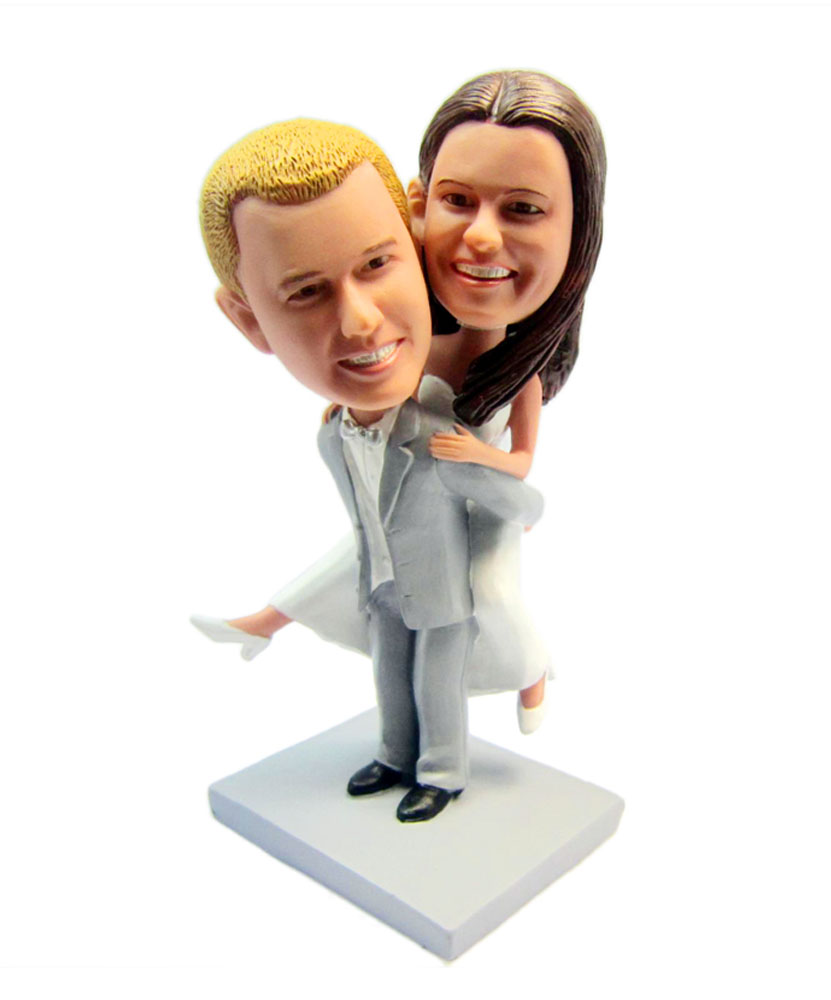 Groom Carrying Bride Couples Bobblehead D008