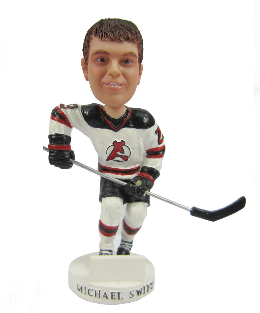personalized bobblehead of hockey player G021