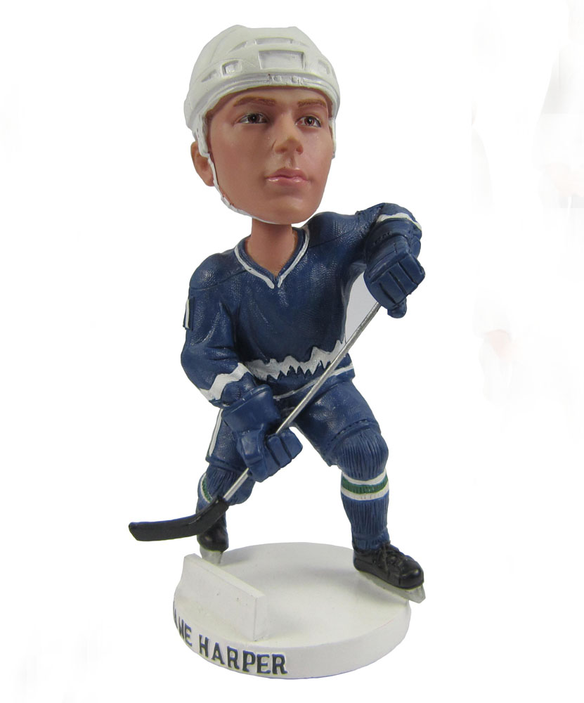 hockey bobbleheads with navy blue dress G022-1