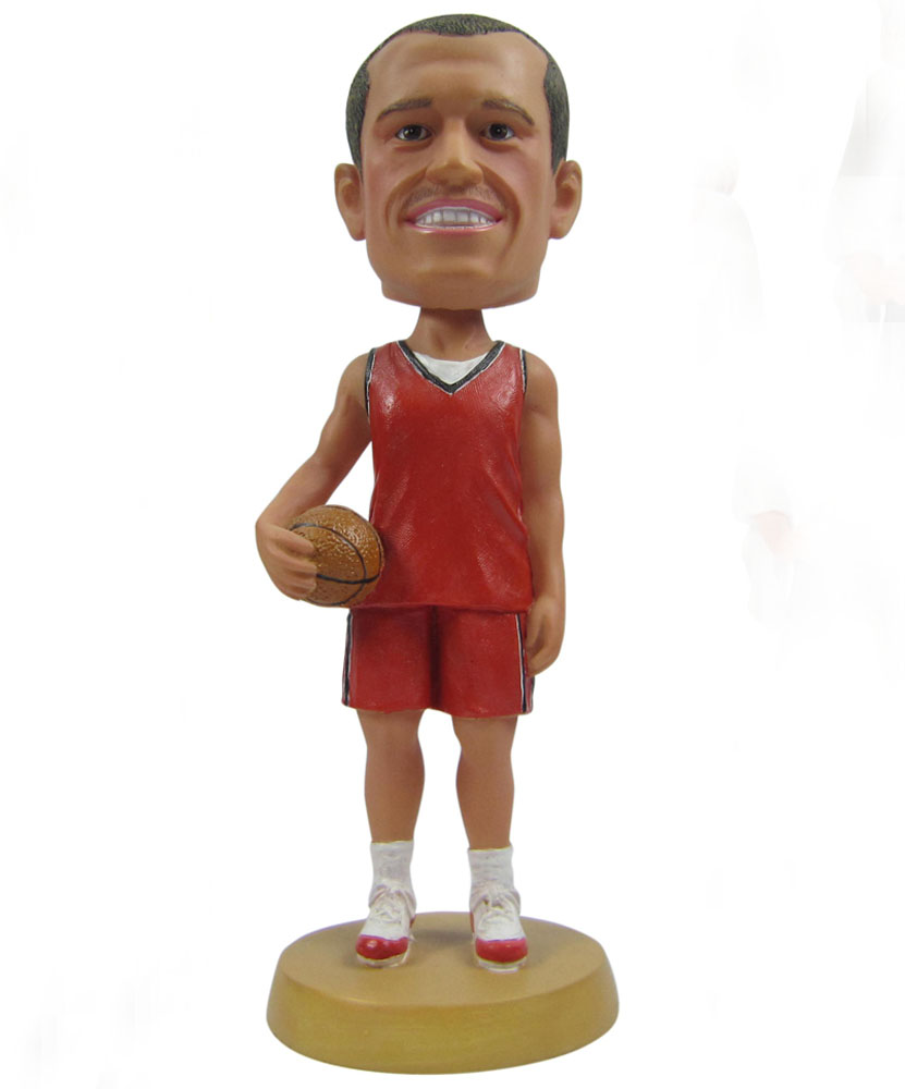 special bobbleheads with basketball at his side G025-1
