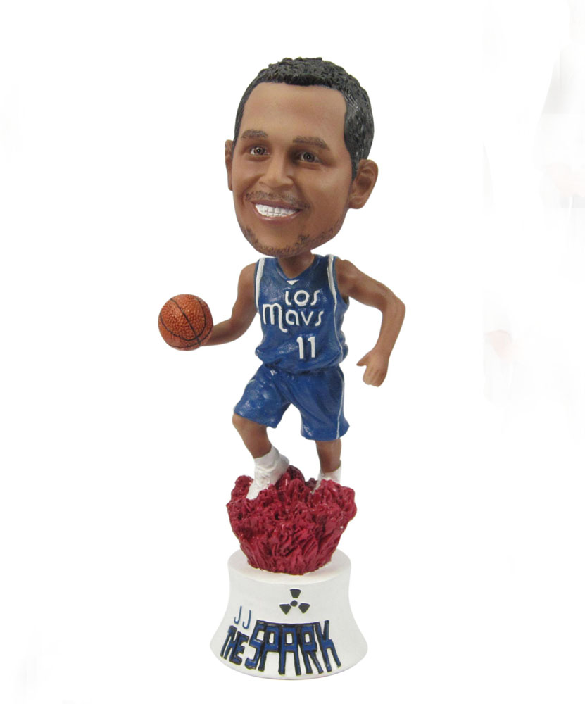 basketball bobbleheads with blue uniform G026-1