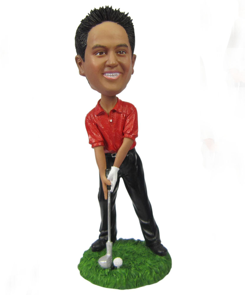 cheap custom bobblehead of golf player G028