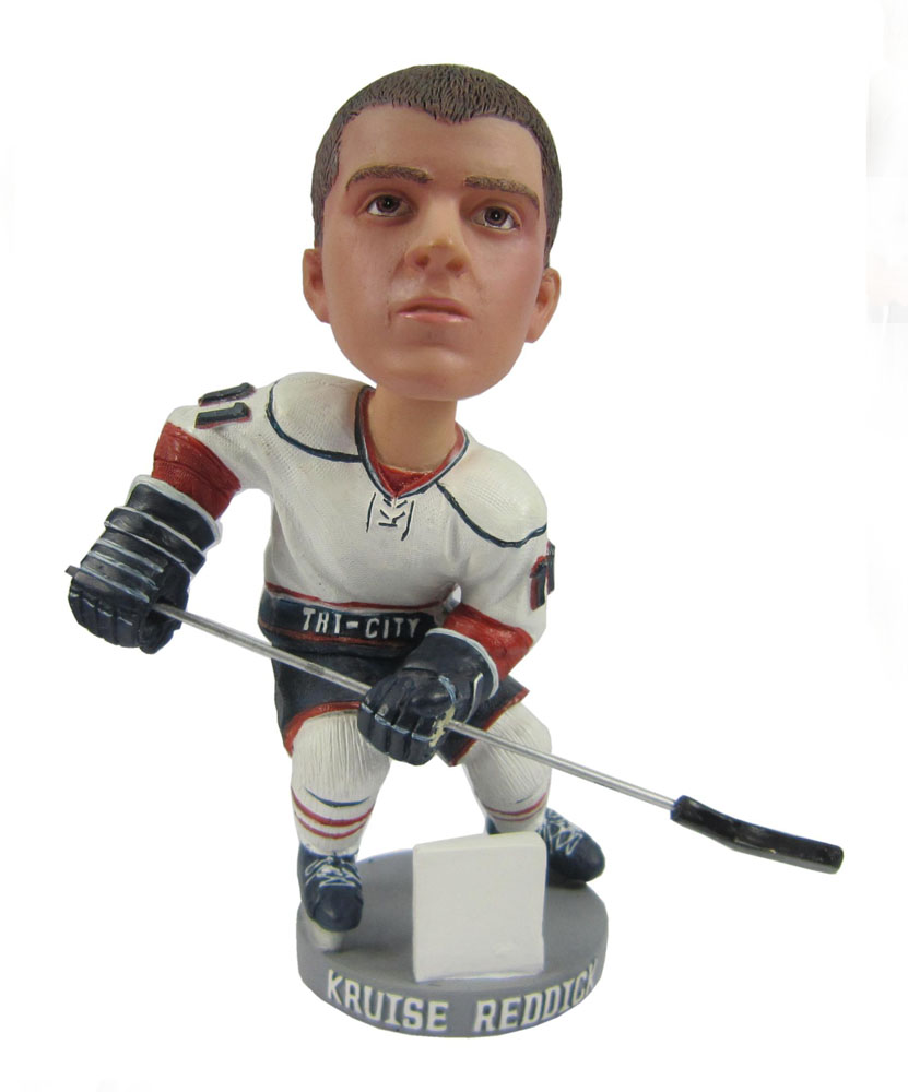 hockey bobbleheads with stick on left side G033-1