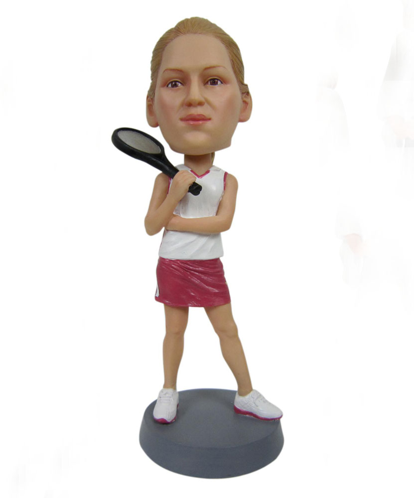 sports bobblehead of female tennis player G038-1