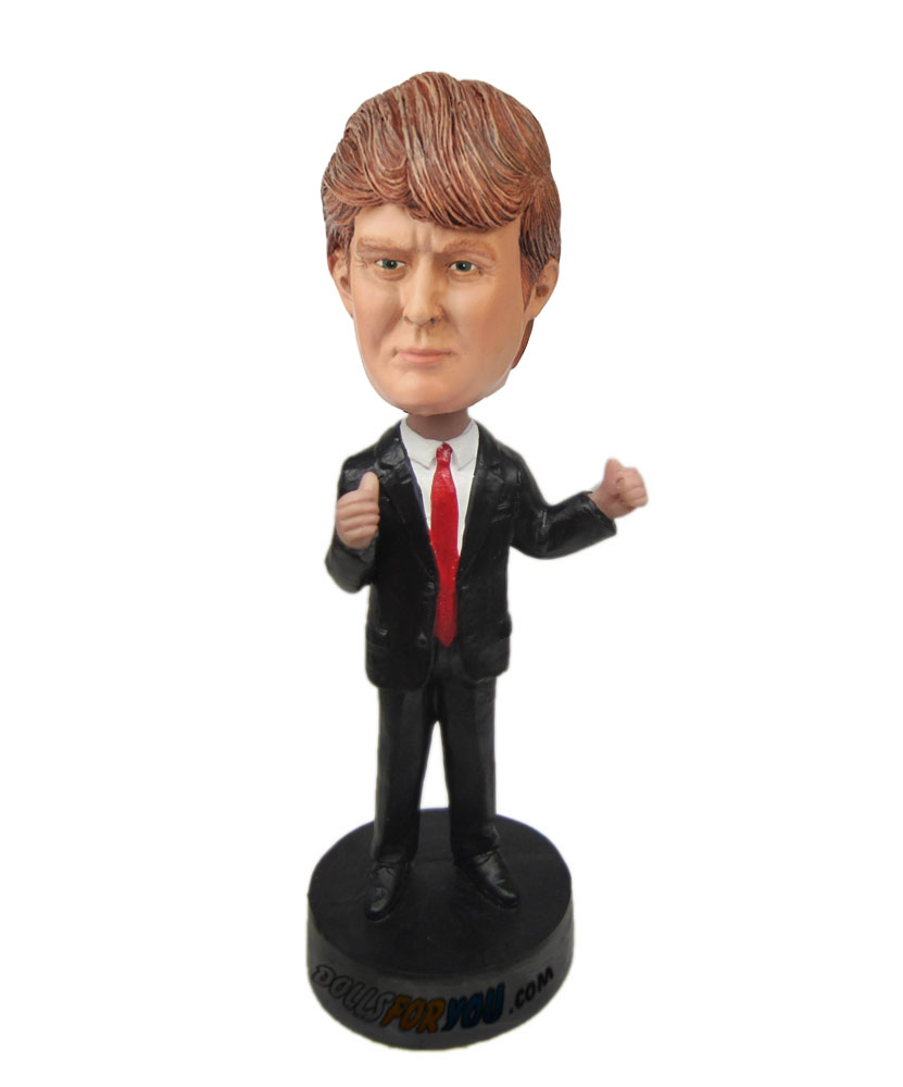 Trump for election president 2016: donald trump polymer clay dolls