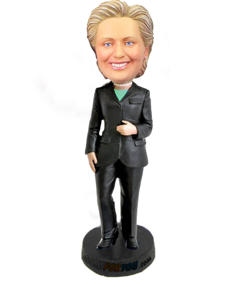 Customized figurine hillary clinton bobble head doll 2016