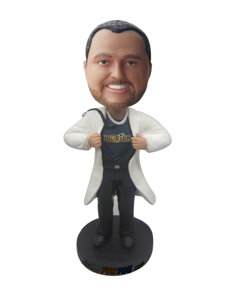Customized bobbleheads physician male bobblehead