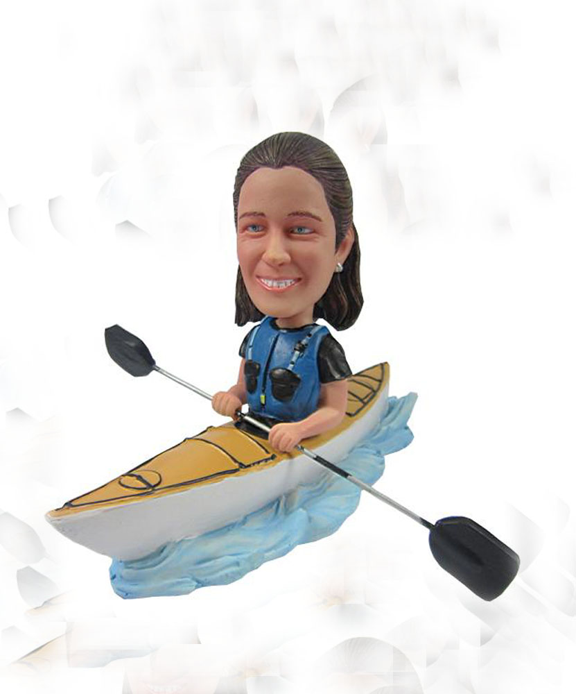 Special bobblehead of rowing man G066