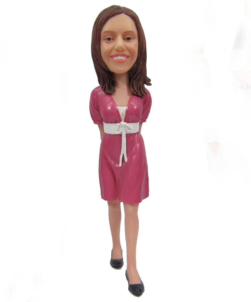 Customized bobble head of elegant lady G090