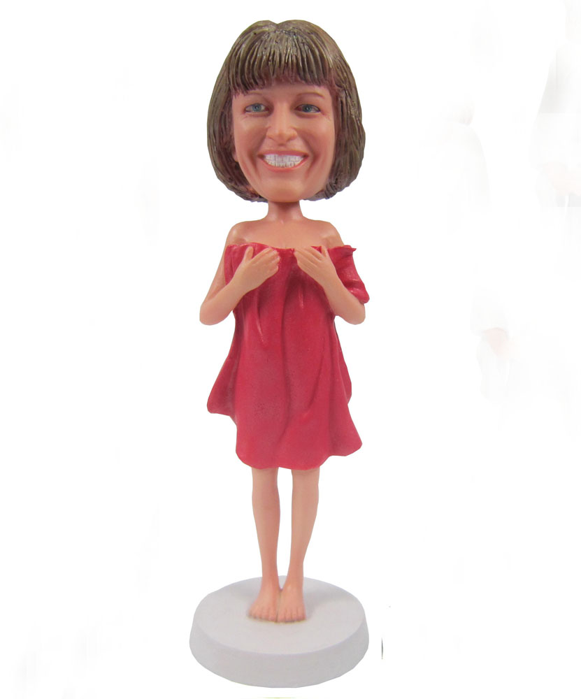 Cheap bobbleheads of bath towel lady G092