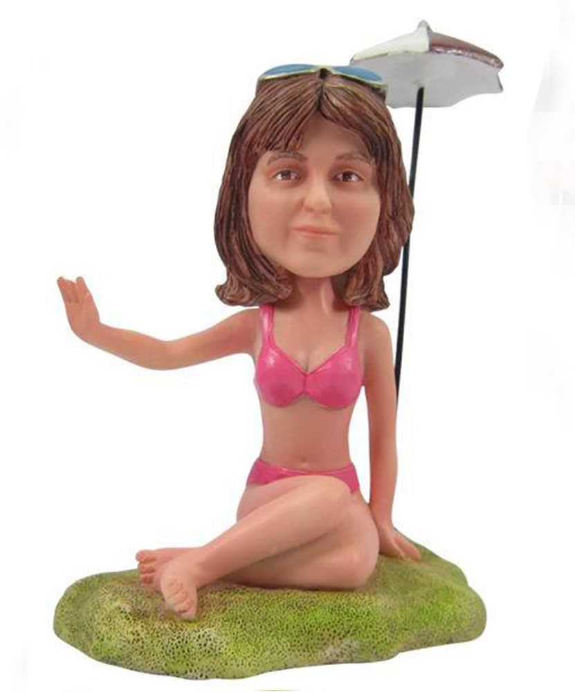 Personalized bobblehead dolls of bikini lady G093