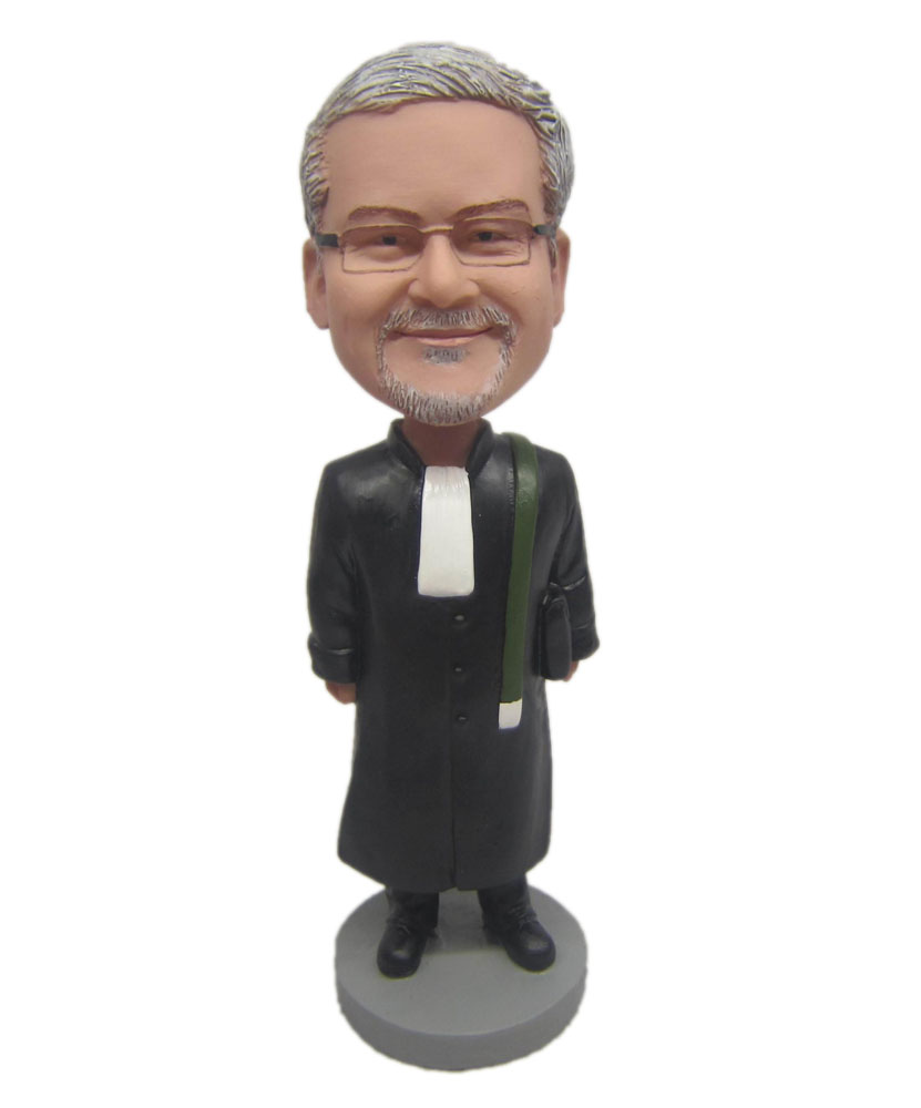 Personalized bobbleheads of man with a breifcase