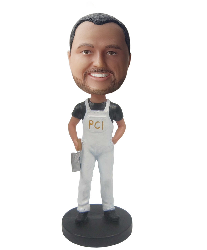 Mke your own bobblehead with white suspenders