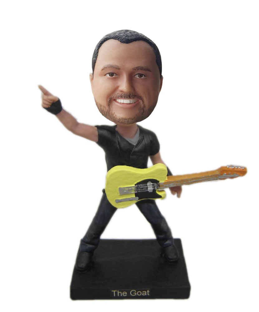 Customizable bobble heads of guitar player