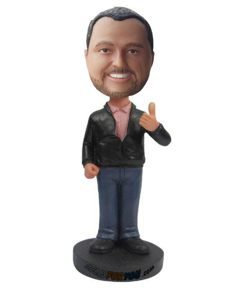 Customizable bobble heads with black dress