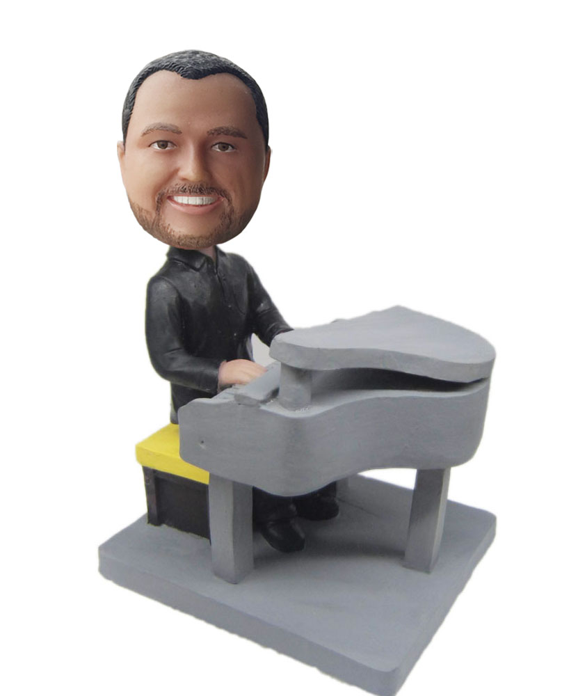 Design your own bobble head with piano