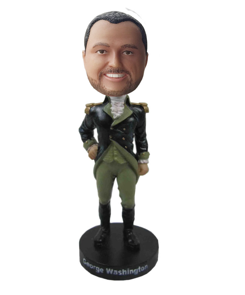 Cool bobble heads of general dressed in knight clothes
