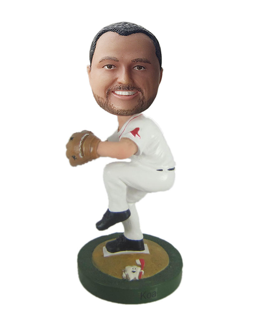 Special bobbleheads with white dress and dark blue hat